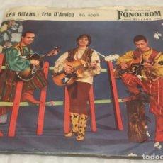 Discos de vinilo: SINGLE MICHELE D'AMICO Y SU TRIO - GRAN CANARIA - LES GITANS - FONOCROM TG6025 -PEDIDOS MINIMO 7€. Lote 246593970