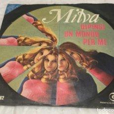 Discos de vinilo: SINGLE MILVA - DIPINGI UN MONDO PER ME - IO NON SO COS'E' - DISCHI RICORDI -PEDIDOS MINIMO 7€. Lote 246596060