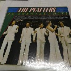 Discos de vinilo: THE PLATTERS,20 GREATEST HITS EDICION HOLANDA BUEN ESTADO. Lote 246597940