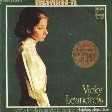 "Discos de vinilo: LUXEMBURGO 1972. EUROVISIÓN. ""APRÈS TOI"" - VICKY LEANDROS. Lote 246599065"