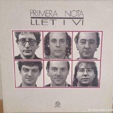 Discos de vinilo: LP / PRIMERA NOTA - LLET I VI, 1990. Lote 246599440