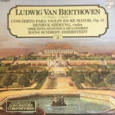 Discos de vinilo: LUDWIG VAN BEETHOVEN - CONCIERTO PARA VIOLIN. Lote 246599990