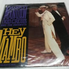 Discos de vinilo: MAXI SINGLE BARRY MANILOW WITH KID CREOLE AND THE COCONUTS- HEY MAMBO. Lote 246602145