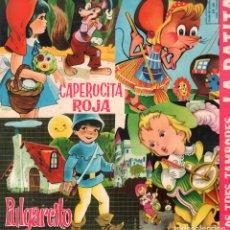 Discos de vinilo: MUSICA INFANTIL - CAPERUCITA ROJA, PULGARCITO, LA RATITA.../ LP DE 1968 / BUEN ESTADO RF-9302. Lote 246610050
