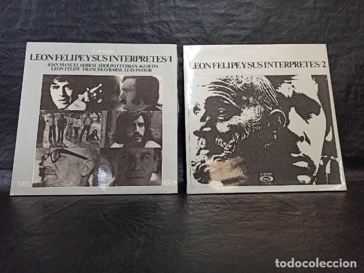 LEÓN FELIPE Y SUS INTERPRETES. 2 DISCOS. VINILOS (Música - Discos - LP Vinilo - Grupos Españoles de los 70 y 80)