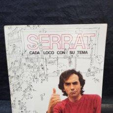 Discos de vinilo: SERRAT. CADA LOCO CON SU TEMA. VINILOS. Lote 246661565