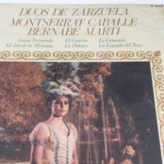 Discos de vinilo: DISCO DÚOS DE ZARZUELA. MONTSERRAT CABALLE - BERNABE MARTÍ. Lote 246698065