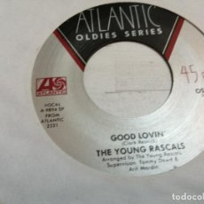 Disques de vinyle: THE YOUNG RASCALS – GOOD LOVIN' / A GIRL LIKE YOU SINGLE USA VG++. Lote 246710600