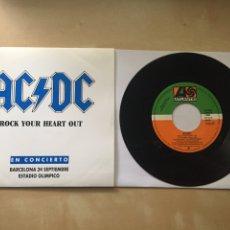 "Discos de vinilo: AC/DC - ROCK YOUR HEART OUT - SINGLE PROMO RADIO 7"" - 1991. Lote 246719165"
