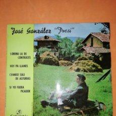 "Discos de vinilo: JOSE GONZALEZ "" PRESI"" . SIDRINA LA DE CONTRUCES. COLUMBIA 1967. Lote 246726375"