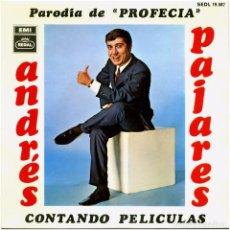 Discos de vinilo: ANDRÉS PAJARES - PARODIA DE PROFECÍA - SG SPAIN 1968 - REGAL SEDL 19.587. Lote 246730960
