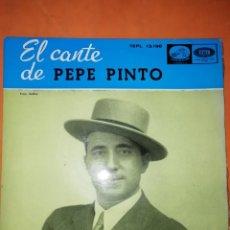 Discos de vinilo: EL CANTE DE PEPE PINTO. LA VOZ DE SU AMO . EMI 1958. Lote 246733100