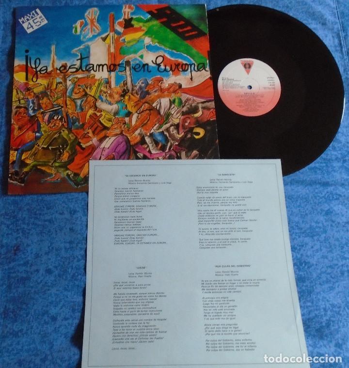 "Discos de vinilo: SPEED SPAIN 12"" MAXI MINI LP 1986 PUNK ROCK & ROLL VASCO INSERT ORIGINAL +LETRAS MUY BUEN ESTADO VER - Foto 2 - 246742765"