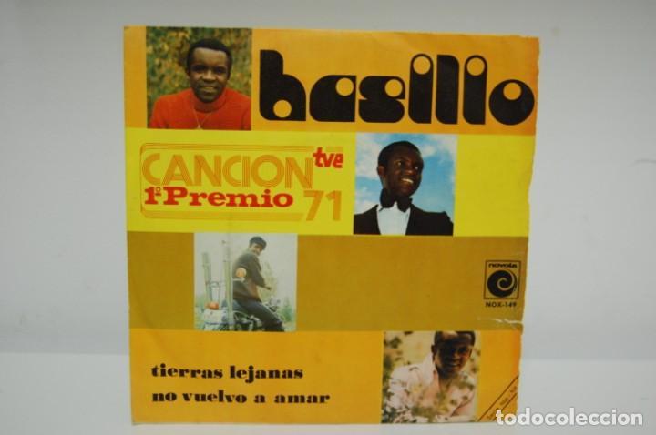 BASILIO - TIERRAS LEJANAS 1º PREMIO CANCION 1971 TVE SINGLE 1971 (Música - Discos - Singles Vinilo - Otros Festivales de la Canción)