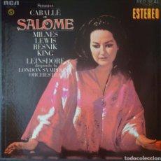 Discos de vinilo: MONSERRAT CABALLE CAJA CON 2 LPS DE LA ÓPERA SALOME EDITADO POR EL SELLO RCA AÑO 1970.... Lote 246783560