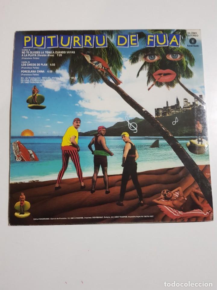 Discos de vinilo: DISCO DE VINILO. PUTURRU DE FUA. NO TE OLVIDES LA TOALLA. VERSION MAXI. 1987 - Foto 2 - 246800805