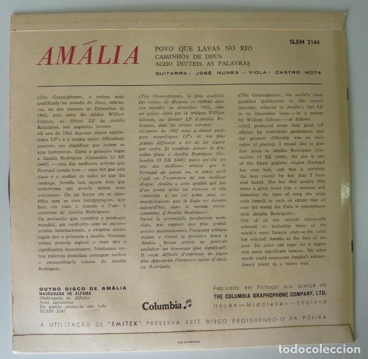 Discos de vinilo: AMALIA RODRIGÜES // POVO QUE LAVAS NO RIO+3 // PORTUGAL // EP - Foto 2 - 246836550