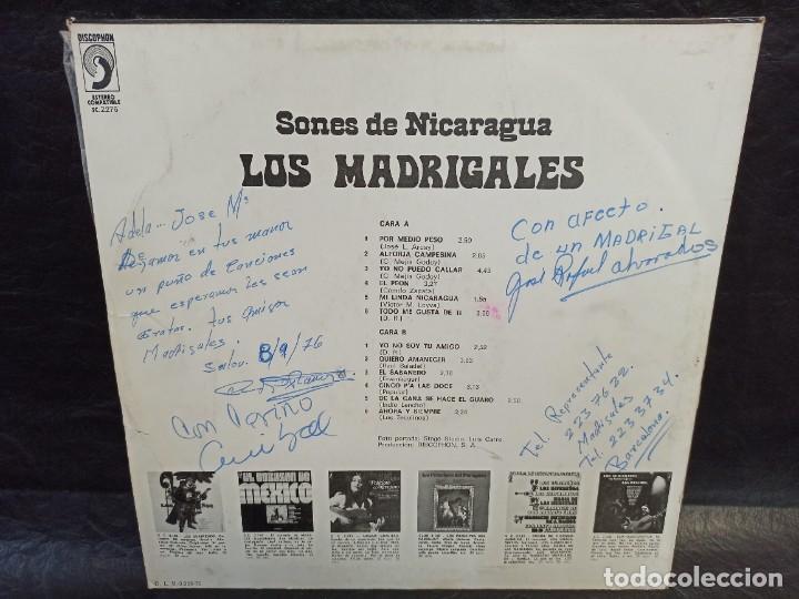 Discos de vinilo: Sones de Nicaragua. Los madrigales. Dedicado. Vinilos - Foto 2 - 246875365
