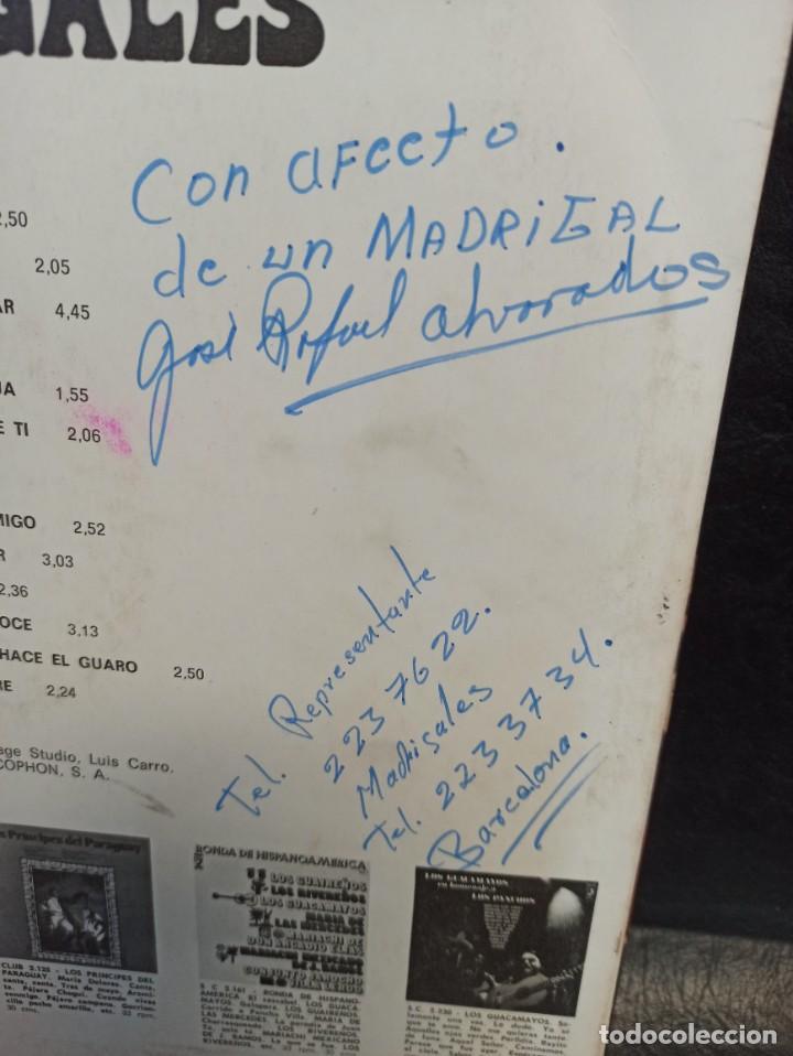 Discos de vinilo: Sones de Nicaragua. Los madrigales. Dedicado. Vinilos - Foto 4 - 246875365
