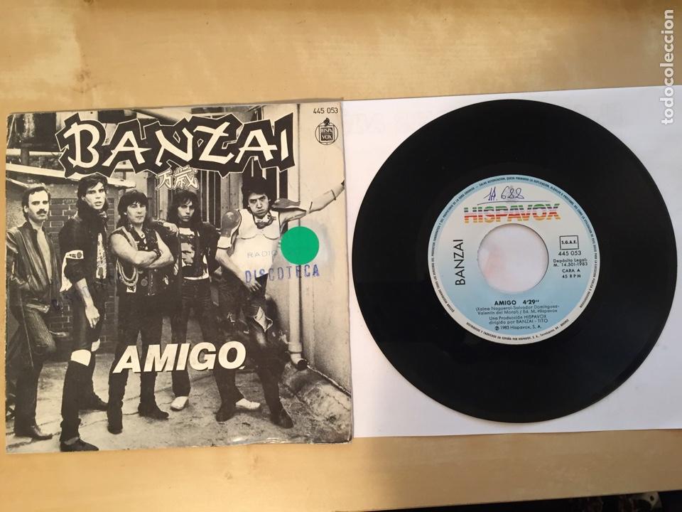 """BANZAI - AMIGO - SINGLE PROMO RADIO 7"""" - 1983 ESPAÑA (Música - Discos - Singles Vinilo - Heavy - Metal)"""