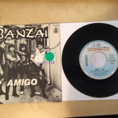 "Discos de vinilo: BANZAI - AMIGO - SINGLE PROMO RADIO 7"" - 1983 ESPAÑA. Lote 246887110"