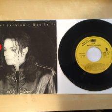 """Discos de vinilo: MICHAEL JACKSON - WHO IS IT - SINGLE PROMO RADIO 7"""" - 1992 ESPAÑA. Lote 246889410"""