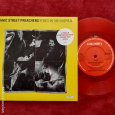 Disques de vinyle: MANIC STREET PREACHERS - ROSES IN THE HOSPITAL- UK SINGLE 1993- RED VINYL- COMO NUEVO.. Lote 246908650