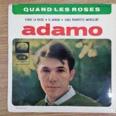 Discos de vinilo: ** ADAMO - QUAND LES ROSES + 3 - EP AÑO 1964 - LEER DESCRIPCIÓN. Lote 246941610