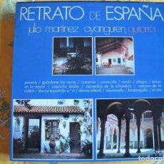 Dischi in vinile: LP - RETRATO DE ESPAÑA - JULIO MARTINEZ OYANGUREN, GUITARRA (SPAIN, DISCOS CORAL 1970). Lote 246947830