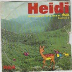 Discos de vinilo: HEIDI, CAPITULO 3. BANDA ORIGINAL DE LA SERIE DE RTVE. SINGLE DEL SELLO RCA DEL AÑO 1975. Lote 246948835