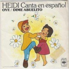 Discos de vinilo: HEIDI - BANDA ORIGINAL DE LA SERIE DE TVE, CAPITULOS 3,4 Y 5. Lote 246949635