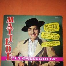 Discos de vinilo: MATILDE LA GALLEGUITA. SUS HIJOS LA RODEABAN. BELTER 1962. Lote 246955320