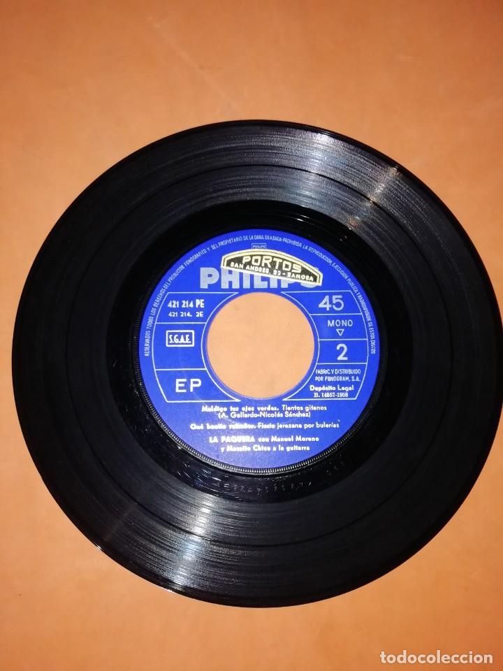 Discos de vinilo: LA PAQUERA CANTA. MI CANTO POR BULERIAS. PHILIPS 1958 - Foto 3 - 246960670