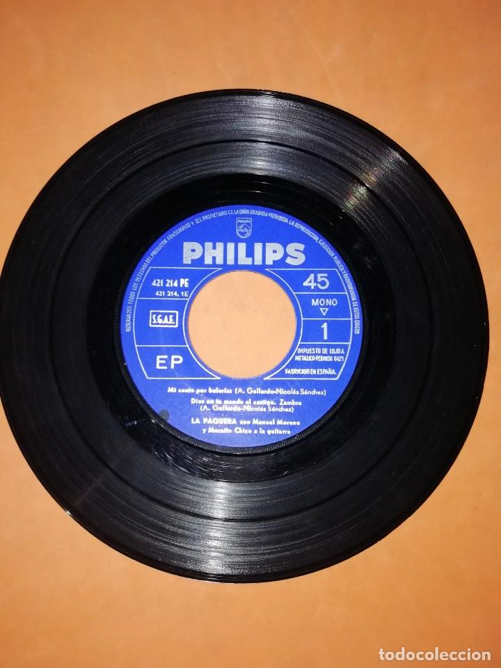 Discos de vinilo: LA PAQUERA CANTA. MI CANTO POR BULERIAS. PHILIPS 1958 - Foto 4 - 246960670
