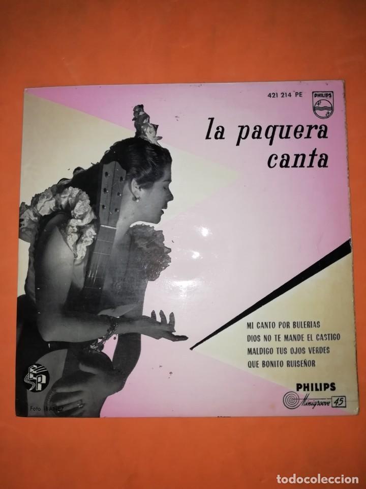 LA PAQUERA CANTA. MI CANTO POR BULERIAS. PHILIPS 1958 (Música - Discos de Vinilo - EPs - Flamenco, Canción española y Cuplé)