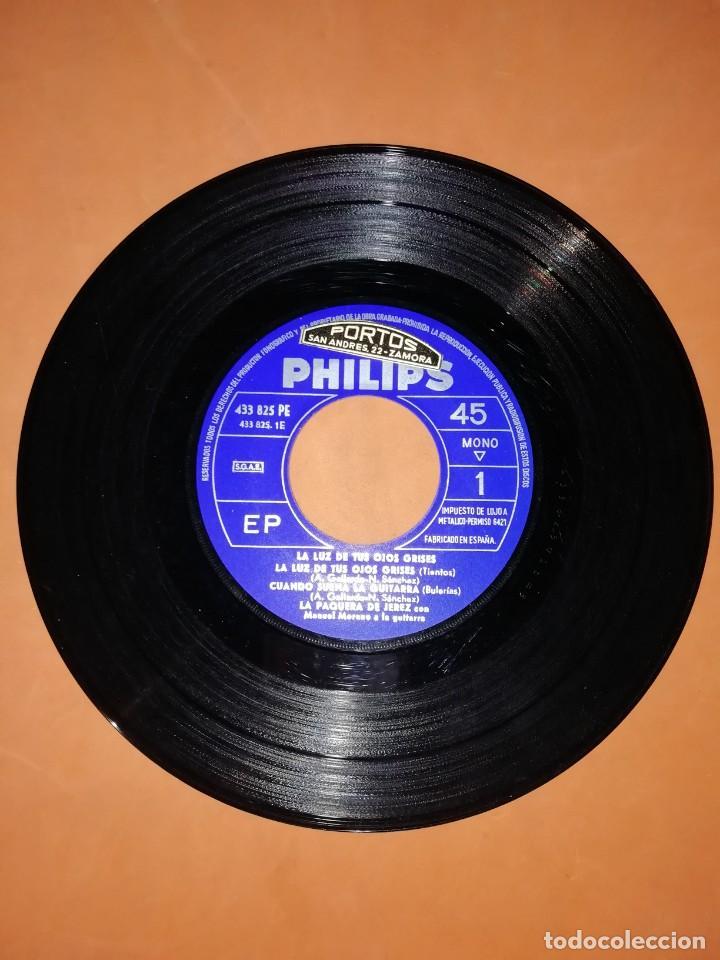 Discos de vinilo: LA PAQUERA. CON MANUEL MORENO A LA GUITARRA. PHILIPS. 1962 - Foto 4 - 246962400