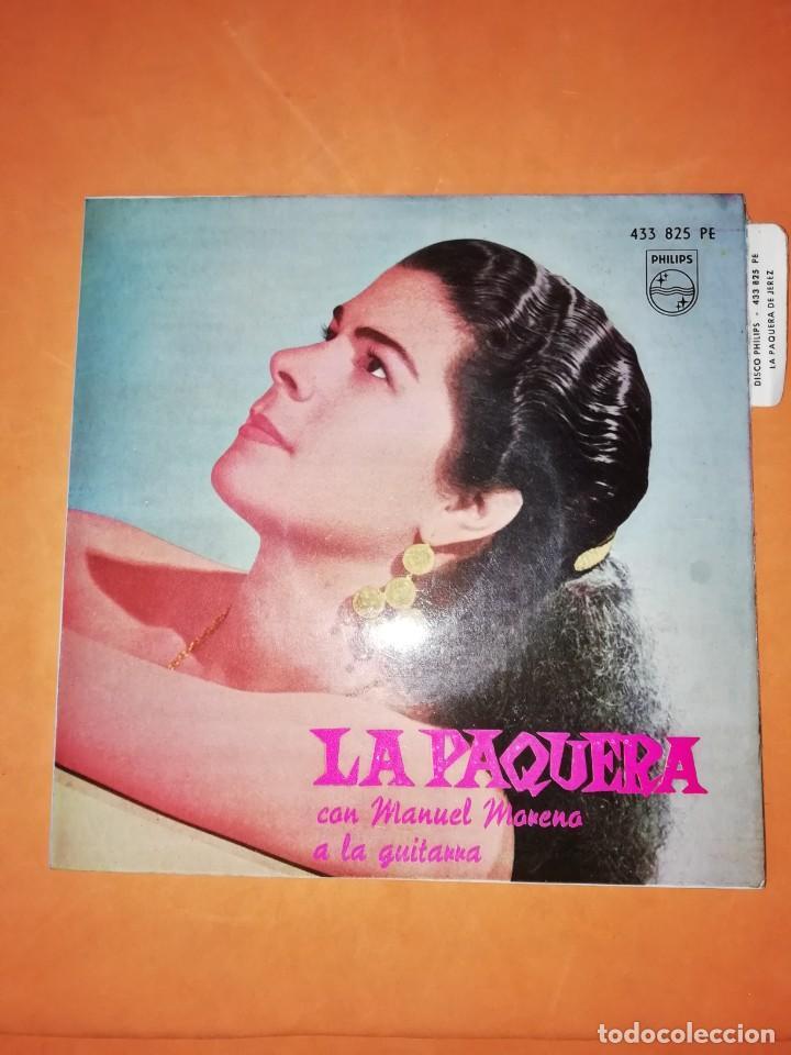 LA PAQUERA. CON MANUEL MORENO A LA GUITARRA. PHILIPS. 1962 (Música - Discos de Vinilo - EPs - Flamenco, Canción española y Cuplé)