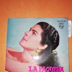 Discos de vinilo: LA PAQUERA. CON MANUEL MORENO A LA GUITARRA. PHILIPS. 1962. Lote 246962400
