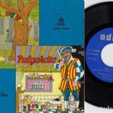Discos de vinil: CAPERUCITA + PULGARCITO - EP DE VINILO ODEON DSOE 16.026 - CUENTOS INFANTILES #. Lote 246963005