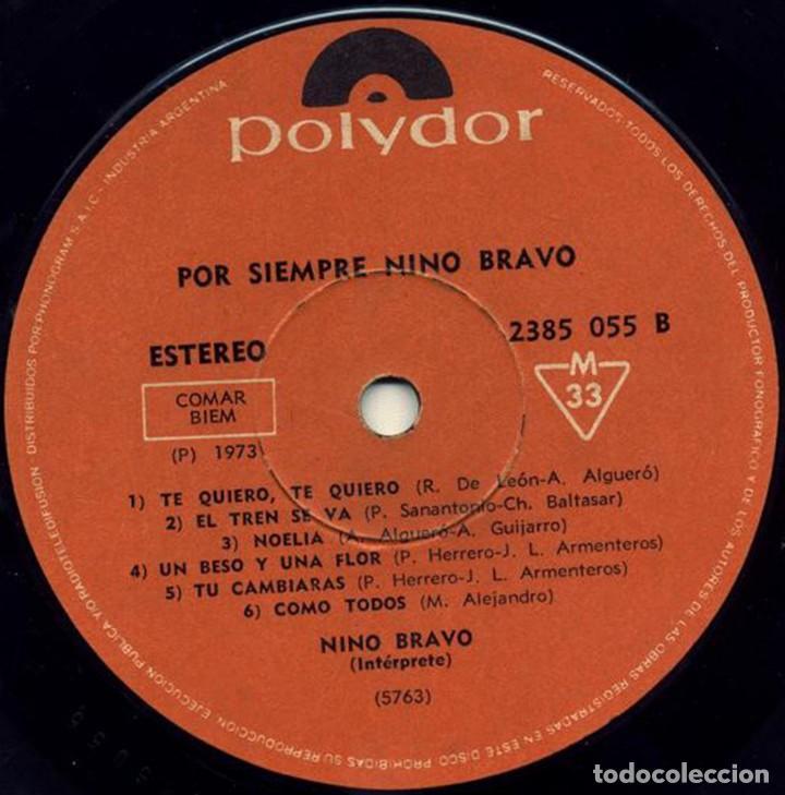 Discos de vinilo: LP argentino y recopilatorio de Nino Bravo año 1973 - Foto 4 - 228063940