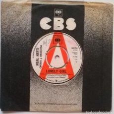 Discos de vinilo: NEAL HEFTI. LONELY GIRL/ GIRL TALK. CBS, UK 1965 SINGLE PROMOCIONAL. Lote 247008285