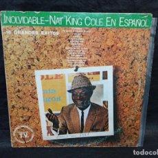 Discos de vinilo: INOLVIDABLE NAT KING COLE. VINILOS. Lote 247038470