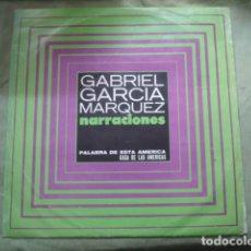 Dischi in vinile: GABRIEL GARCÍA MÁRQUEZ  NARRACIONES. Lote 247050545