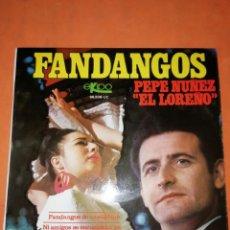 Discos de vinilo: FANDANGOS . PEPE NUÑEZ EL LORENO. FANDANGOS DE CANTILLANA. EKIPO 1969. Lote 247057690