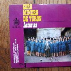 Discos de vinilo: CORO MINERO DE TURON - ASTURIAS- ALBORADA ASTURIANA + MÁS SERENA SALE EL AGUA + POPURRÍ ASTURIANO. Lote 247059720