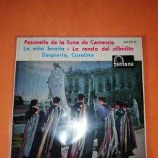Discos de vinilo: LA TUNA. PASACALLE DE LA TUNA DE COMERCIO. FONTANA 1961. Lote 247076235