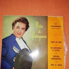 Discos de vinilo: NIÑA DE ANTEQUERA. COMO UN LIRIO. COLUMBIA. 1958. Lote 247090115