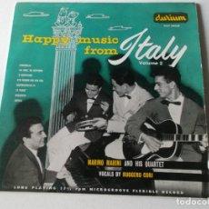 Discos de vinilo: MARINO MARINI AND HIS QUARTET, HAPPY MUSIC FROM ITALY VOLUME 2, VINILO 10 PULGADAS 1956. Lote 247091795