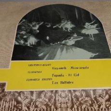 Discos de vinilo: BALLET EN LA OPERA DE PARIS CID 25161 AÑO 1960 RARO VER DESCRIPCION :. Lote 247107030