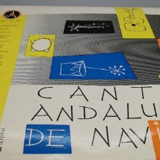 Discos de vinilo: CANTES ANDALUCES DE NAVIDAD - MANOLO VARGAS / ADELA ESCUDERO / PERICON DE CADIZ LP. Lote 247112690